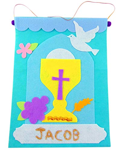 Westman Works First Communion Banner Kit for Boys Arts and Craft Decoration -