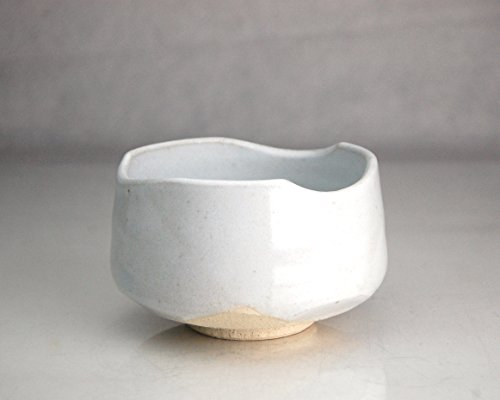 White Kohiki Japanese Ceremony Tea Bowl | Chawan | 47114 | Hand Made | Kohiki Minoyaki | White | 15oz | Japan |