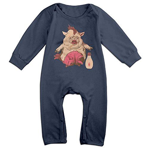 Mmo-J Newborn Babys Entree And Kewpie Long Sleeve Bodysuit Outfits Navy Size 6 M