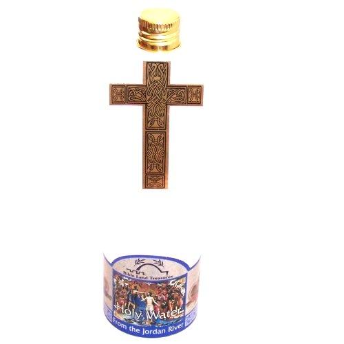 Holy water form the Jordan River in a Cross shaped Bottle