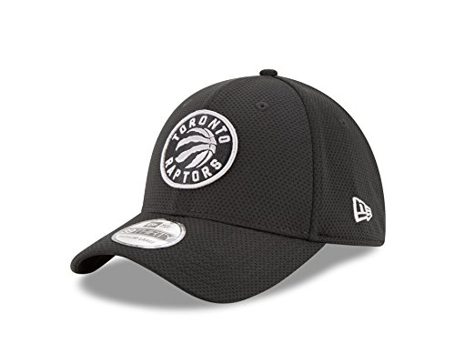 New Era NBA Toronto Raptors Adult Tone Tech Redux OTC 39THIRTY Stretch Fit Cap, Medium/Large, Black