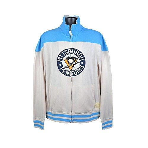 Reebok Pittsburgh Penguins NHL–Vintage Full-Zip–Chaqueta, Blanco, XL