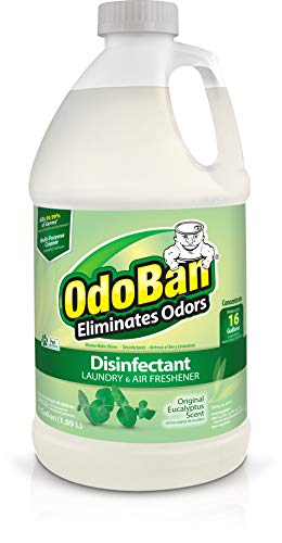 OdoBan Disinfectant Odor Eliminator and All Purpose Cleaner, 32 oz Spray and 1/2 Gallon Concentrate, Original Eucalyptus, Plus Solid Odor Absorber by OdoBan (Image #2)