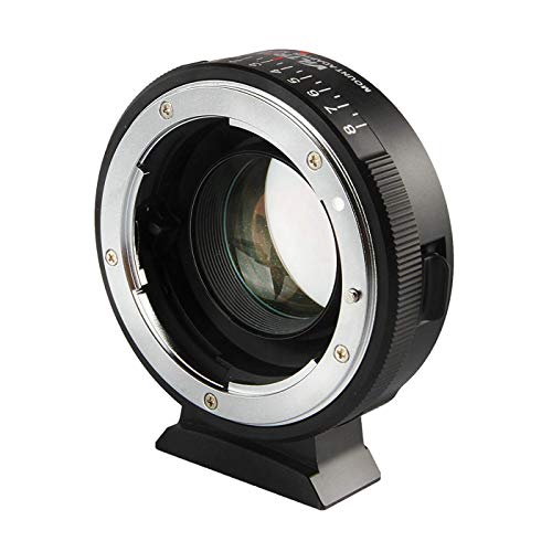 Viltrox NF-M43X 0.71x Lens Mount Adapter Ring Converter for Nikon G D Lens to Micro Four Thirds Camera (Manual Infinity Focus, Adjustable Aperture, Focal Reducer Speed Booster)