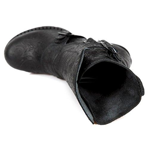 TR003X Rock Nr Black Womens NEWROCK New Boots M S3 6SqIZwZ