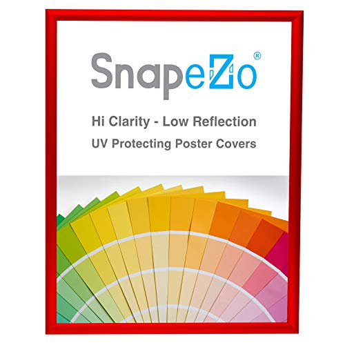 - SnapeZo Poster Frame 18x24 Inches, Red 1 Inch Aluminum Profile, Front-Loading Snap Frame, Wall Mounting, Sleek Series