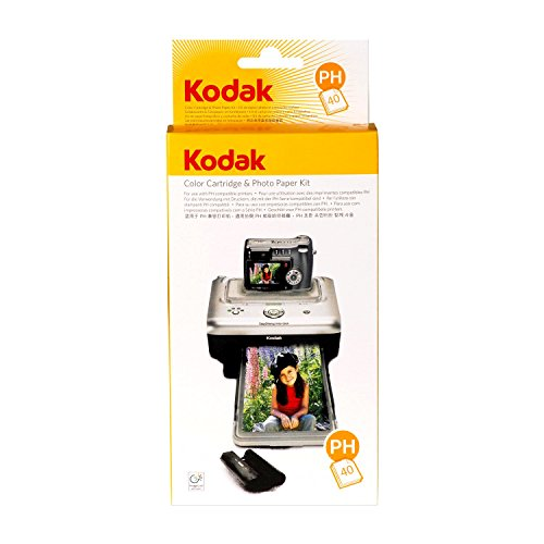 Kodak PH-40 EasyShare Printer Dock Color Cartridge & Photo Paper Refill Kit (Dock Camera Kodak With Printer)