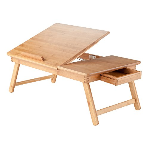 Winsome Wood Baldwin Lap Desk With Flip Top Bamboo Buy