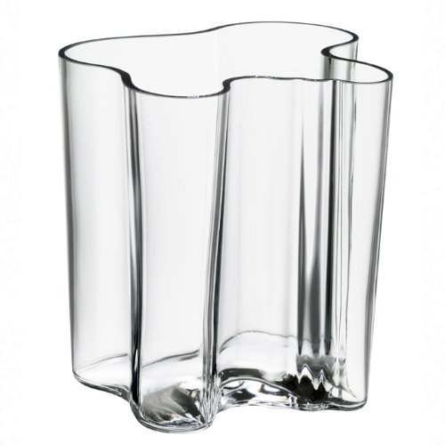 Aalto Clear Vase (Iitala Aalvar Aalto Finlandia Vase (Large), Clear)