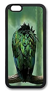 ACESR Greeny Bird Stylish iPhone 6 Case TPU Back Cover Case for Apple iPhone 6 4.7inch Black