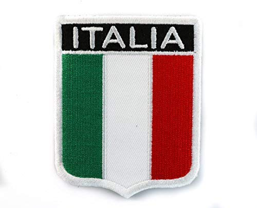 Italian Flag Shield Embroidered Patch IVANP2618