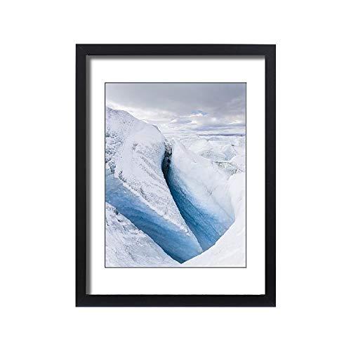 Media Storehouse Framed 24x18 Print of Landscape of Greenland Ice Sheet, Kangerlussuaq, Greenland, Denmark (18241925)