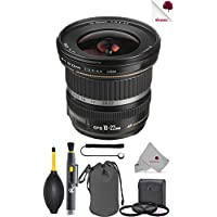 Canon EF-S 10-22mm f/3.5-4.5 USM Lens Black (9518A002) USA - Full Accessory Basic Lens Bundle Package Deal