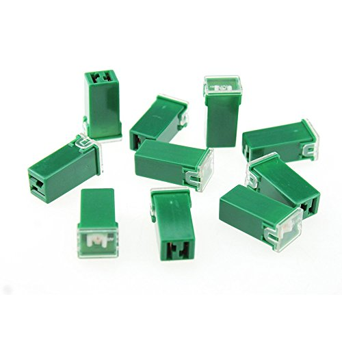 10Pcs car 40A PAL fuse 2 Terminal Plug In Type Cartridge PAL Fuse DC 32V 40A Light