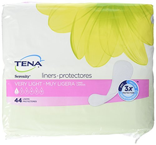 - TENA Serenity Very Light Liners Regular, 44 Count (Pack of 4) by TENA
