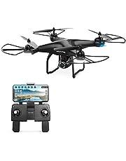 Holy Stone HS120D Drone FPV con cámara para Adultos Vídeo en Vivo HD de 1080p y Regreso a casa por GPS, helicóptero RC Quadcopter para niños Principiantes 16 min Sígueme Funciones Selfie