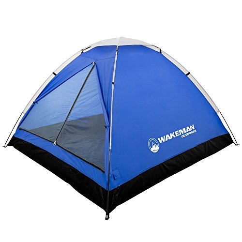 - Wakeman 2-Person Tent, Water Resistant Dome Tent for Camping with Removable Rain Fly and Carry Bag, Lost River 2 Person Tent Outdoors (Gray/Blue)