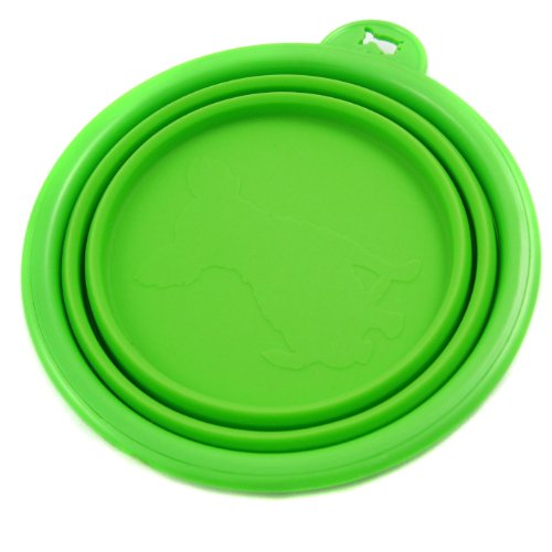 Alfie Pet by Petoga Couture – Ros Silicone Pet Expandable/Collapsible Travel Bowl – Size: 1.5 Cups, Color: Green, My Pet Supplies