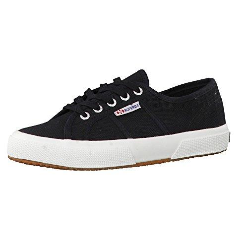 Superga - Zapatillas de deporte de algodón para hombre Black Fwhite