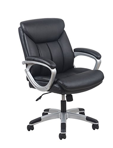 Essentials Leather Executive Computer/Office Chair with Arms - Ergonomic Swivel Chair (ESS-6020)
