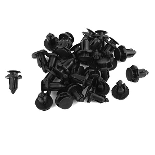 uxcell® 30 Pcs Push Fender Retainer Bumper Clips MR200300