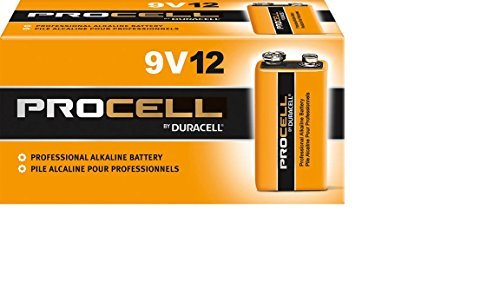 Pack of 60 Duracell PC1604 Procell 9 Volt Alkaline Battery with Cap Protectors - Bulk Pack