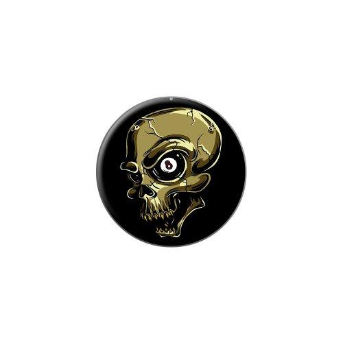 Graphics and More Eight Ball Skull - Billiards Pool - Metal Lapel Hat Pin Tie Tack Pinback (Billiards Resin Bag)