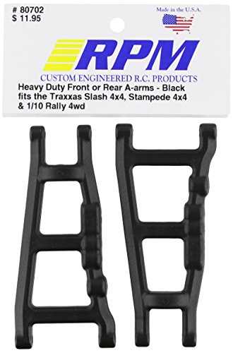 RPM 80702 Front/Rear A-Arms Black Slash/Stampede 4x4 Black
