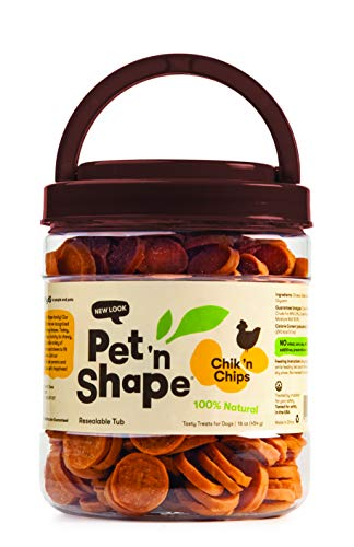 Pet 'N Shape Chik 'N Chips Natural Dog Treats, 1 Pound (Chicken Dumbells)