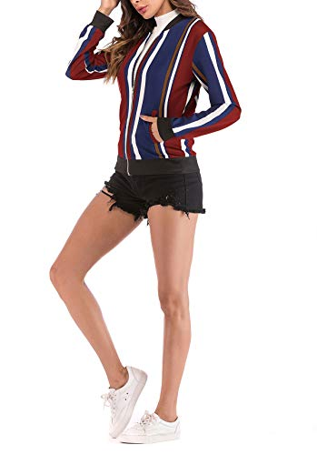 Imprim Casual ulein Fashion Fox Hauts Blousons Femmes Automne Fr Manches Outerwear Jacket Bomber Printemps Longues B0xOqwxd6