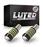 LUYED 2 X 1700 Lumens Extremely Bright 1156 4014 102-EX Chipsets 1156 1141 1003 7506 LED Bulbs Used For Backup Reverse Lights,Xenon White(Brightest LED in market)