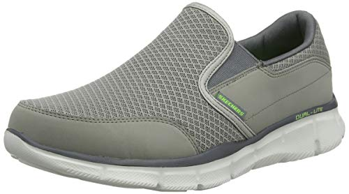 Skechers Sport Men's Equalizer Persistent Slip-On Sneaker, Gray, 14 M US