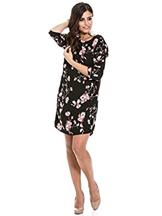Vero Moda Jappa 3/4 Sleeve Short Dress for Women - XS, Black