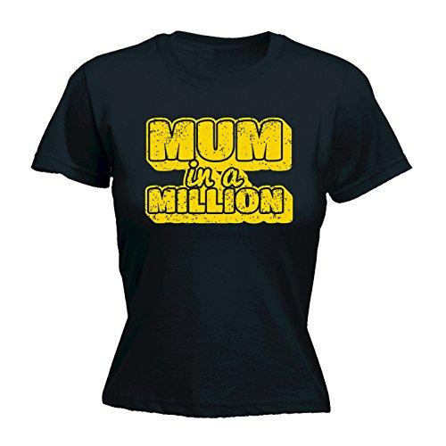 Femme Manches Noir Courtes Slogans 123t shirt T wCXTTq