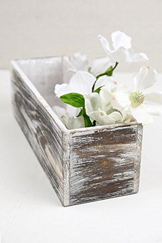 Richland Planter Boxes White Washed Wood 4