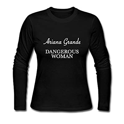Long T Shirt For Women Popular Sale Ariana Grande Dangerous Woman 2016 Tour Logo