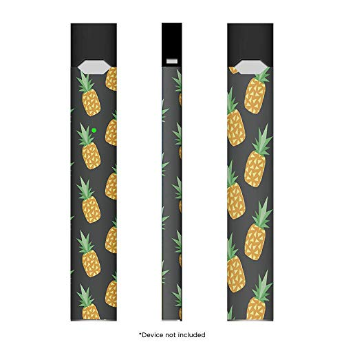 SHIODOKI 2 Pack Juul Skin Decal for Pax JUUL Spider Man Bat Pineapple American Flag Marble Pattern Protective Sticker for JUUL Wraps Device is Not Included (Pineapple)