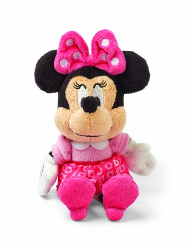 Minnie Mouse Plush Toy - Kids Preferred Disney Baby Minnie Mouse Mini Jingler Plush Toy, 7.75