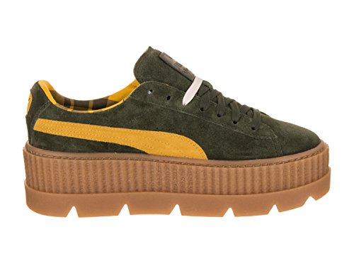 PUMA Vanilla US B Women's Creeper Rosin 6 Cleated Suede Lemon 1WrZ1wn47q