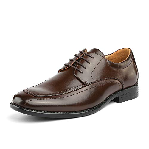 - Bruno Marc Men's DP05 Dark Brown Leather Lined Oxford Dress Shoes Size 8 M US
