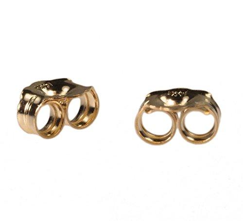 14K Yellow Gold Earring Backs Medium 4mm (1 Pair)