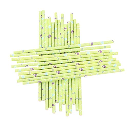 ❤️Ywoow❤️ Paper Straws, 25pcs Disposable Drinking Straws Home Bar Party Cocktail Drink Straw from ❤️Ywoow❤️