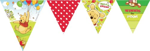 Amscan Disney Winnie The Pooh And Piglet Pennant Banner -
