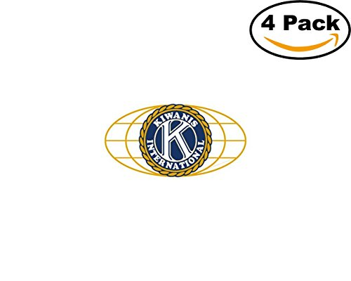 kiwanis international 4 Stickers 4x4 Inches Car Bumper Window Sticker Decal