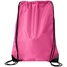 Kleanco Home It - Pink Forrest Drawstring Backpack Bag Gymsack Sackpack for Unisex Sports Activity As Soccer Shoes Exercise Futsal Swimming Running Sqash Tennis Badminton Yoga Bikes or Backpack Relax on the Palm Beach