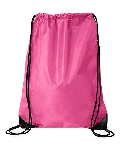 - Kleanco Home It - Pink Forrest Drawstring Backpack Bag Gymsack Sackpack for Unisex Sports Activity As Soccer Shoes Exercise Futsal Swimming Running Sqash Tennis Badminton Yoga Bikes or Backpack Relax on the Palm Beach