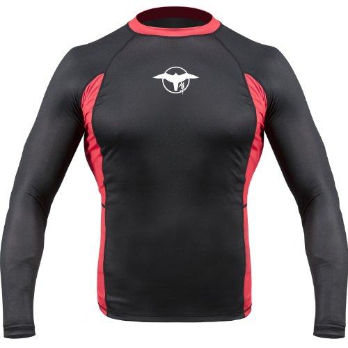 Hayabusa Haburi Long Sleeve Rashguard Shirt, Black, Small