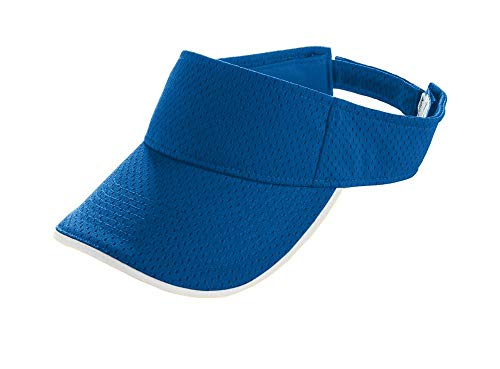 Augusta Sportswear Kids' Athletic MESH Two-Color Visor OS Royal/White