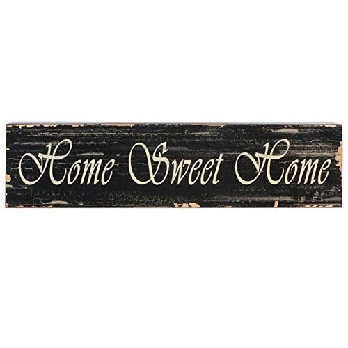 Barnyard Designs Home Sweet Home Wooden Box Wall Art Sign, Primitive Country Farmhouse Home Decor Sign with Sayings 22