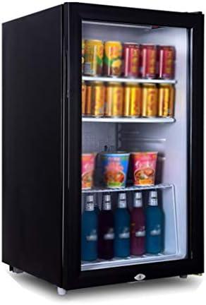 WANGLX 飲料冷蔵庫、40dBの、110L、ベッドルーム用小型冷蔵庫、ガラスドア、飲料冷蔵庫クーラーとオフィス用小型冷蔵庫
